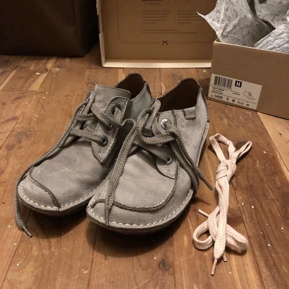 Clarks Funny Dream Sage Nubuck Shoes